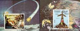 Apollo 11+17 NASA-Raumfahrt 1972 Shardscha Blocks 110+113 A O 4€ Control-room Houston Blocs S/s Space Sheets Bf VAE