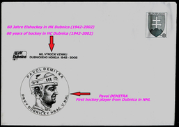 607-SLOVAKIA Cover Postal Stationery P. DEMITRA NHL+KHL Hockey+captain Representation, The Russian Team Yaroslavl 2011