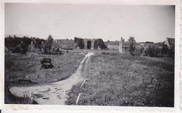 Foto Deutsche Wehrmacht - Ruinen - Lastwagen - 2. WK - 11*6cm (27584)