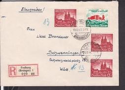 Einschreibbrief Deutsches Reich Freiburg Nach Schwenningen 1940