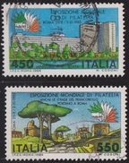 """ITALIA - Serie 2 Valori Usati - Esposizione Mondiale Di Filatelia """"Italia 85"""". 1° Emissione - 26.4.1984"""