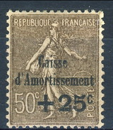Francia, C. D'A. 1930 N. 267 C. 25 Su C. 50 Bruno MNH**LUX, Perfettamente Centrato,  Firmato A. Diena, Cat. Y&T € 1 - Sinking Fund