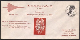 CONCORDE 3 Premier Vol Du Programme D'endurance 28 Mai 1975  (Masque Sénoufo)