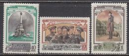 USSR 1954 - Centenary Of Defence Of Sevastopol, Mi-Nr. 1728/30, MNH**