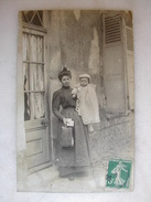 CARTE PHOTO - Femme Et Son Enfant - Femmes
