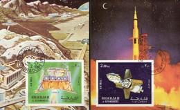 Apollo 16 Modell Zum Mondflug 1972 Shardscha Blocks 112+114B O 17€ SU Luna 9 Raumfahrt Blocs Ss Space Sheets Bf VAE