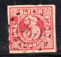 T74 - BAYERN  , Il 3 Kreutzer  Usato