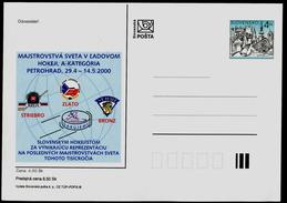 610 SLOVAKIA Prepaid Postal Card-with Imprint Vicechampion 64th World Ice Hockey Championship 2000 St. Petersburg Russia