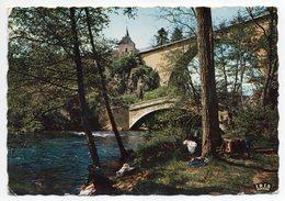 Près Avallon--PIERRE PERTHUIS--1959--Ponts Sur La Cure (animée,lavandière),cpsm 15 X 10 N°2 éd CD--cachet PONT SUR YONNE - France