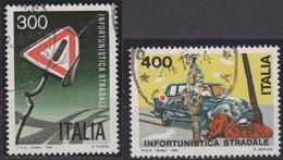 ITALIA - Serie 2 Valori Usati - Prevenzione Degli Infortuni Stradali - 20.1.1984