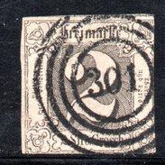 T575 - THURN TAXIS 1852 ,  2 S.  Usato. Margini Filo