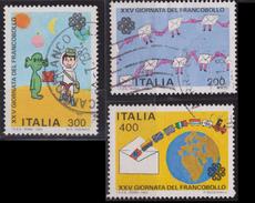 ITALIA - Serie 3 Valori Usati - 25° Giornata Del Francobollo - 27.11.1983