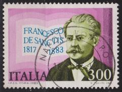 ITALIA - Valore Usato Di 300 Lire - 1° Centenario Della Morte Di Francesco De Sanctis - 28.10.1983