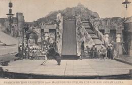 FRANCO BRITISH 1908. HAGENBECKS CEYLON VILLAGE @ INDIAN ARENA - Exhibitions