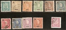 Acores Angra Azoren 1892-98 10+ Stamps Unused/cancelled
