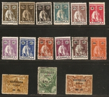 Congo Portuguesa - Angola - Cabinda 1913-1914 -  With Ceres Type - 15 Stamps  Unused/cancelled