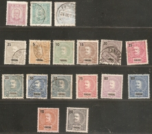 Funchal - Madeira - Portugal 1892-1898, 18 Stamps  Unused/cancelled
