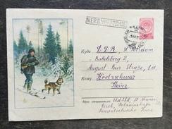 C14 Russia Russie USSR URSS Ganzsache Stationery Entier Postal U 187IIa Jäger Mit Hund