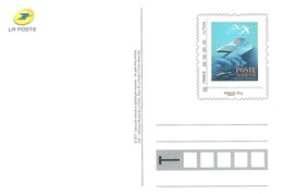 """PAP Carte Postale Avec IDTimbre Monde 20g Illustré """"Poste Aérienne Et Messageries Maritimes"""""""