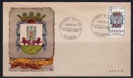 España 1962. Escudo De Alava. Primer Dia.