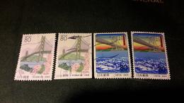 Japon 1998 2432 2433 2432a 2433a Ponts - Gebraucht