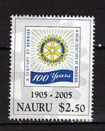 Nauru 2005 The 100th Anniversary Of Rotary International.MNH