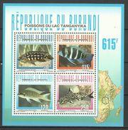 BURUNDI  1996  FISH SHEET MNH