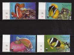 Nauru 2003 WWF Endangered Species - Sea Anemones And Anemonefish. Fishes.MNH - Nauru