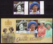Nauru 2002 Queen Elizabeth The Queen Mother Commemoration, 1900-2002.S/S And Stamps.MNH