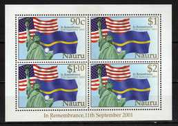Nauru 2002 In Remembrance - Victims Of Terrorist Attacks On U.S.A., 11 September 2001 S/S.MNH