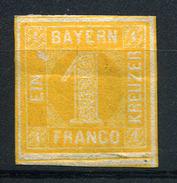 33364) BAYERN # 8 Ungebraucht Aus 1862, 100.- €