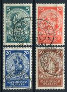 33372) DEUTSCHES REICH # 351-54 Gestempelt Aus 1924, 100.- €