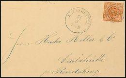 7902) Schleswig-Holstein Nummernstempel DK7 Brief 140 - Brunsbüttel 31.5.1859