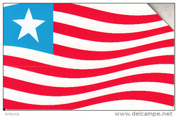 LIBERIA - Liberian Flag, First Issue 10 Units, Used