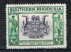 SOUTHERN RHODESIA 170296 - 1940 1/2c Colony Seal MNH Single