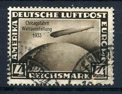 33382) DEUTSCHES REICH 4.- RM Zeppelin Chicagofahrt Gestempelt Aus 1933, 250.- €