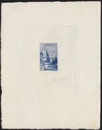 MONACO 1939. Flag Big Old Castle 1F SIGNATURES PROOF [épreuve Prueba Druckprobe]