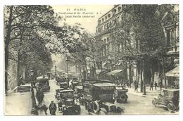 CPA  Paris Boulevard St Martin, Belle Animation De Voitures, Camionnettes, Autobus, Années 30/40, N°21 - Autres