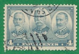 United States - 1936-37 - Admirals Wiliam T. Sampson, George Dewey & Winfield S. Schley - Scott #793