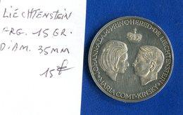Liechtenstein   Arg  15  Gr   Diam  35  Mm   Jeton - Liechtenstein