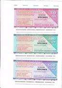 50 - 500 Deutsche Mark, Oktober 1975, Deutscher Reisecheck, SPECIMEN, UNC ! - 500 Deutsche Mark