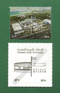 2016 UAE Emirates Emirats Arabes Arabi - ETIHAD MUSEUM 2v MNH ** - Flag Architecture Transparent Embossed Stamp As Scan