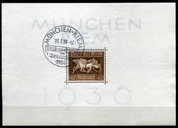 33392) DEUTSCHES REICH Block 4 Gestempelt Aus 1936, 18.- €