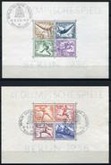 33393) DEUTSCHES REICH Block 5+6 Gestempelt Aus 1936, 130.- €