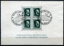 33394) DEUTSCHES REICH Block 7 Gestempelt Aus 1937, 16.- €
