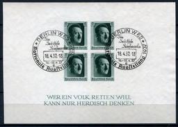 33395) DEUTSCHES REICH Block 8 Gestempelt Aus 1937, 30.- €
