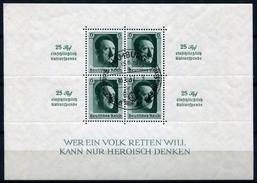 33396) DEUTSCHES REICH Block 9 Gestempelt Aus 1937, 90.- €