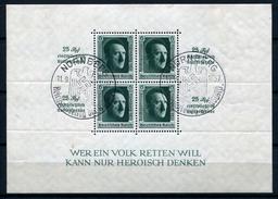 33397) DEUTSCHES REICH Block11 Gestempelt Aus 1937, 60.- €