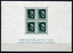 33404) DEUTSCHES REICH Block 7 Gefalzt Aus 1937, 24.- €