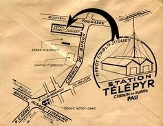 """Env. De 1958 Illustrée """"Station Télépyr"""" Avec Timbre """"Beynac-Cazenac (1127)"""""""